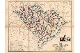 Road Map Of South Carolina Scdot Historical Maps Scdot 100