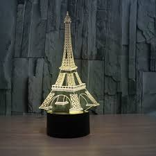 Eiffel Tower Table Centerpieces Illusion Eiffel Tower Table Decorations Led Desk Lamp As Gift Free