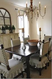 Large Dining Room Chair Covers The Dining Room The Green Slip Covers Great Rug And