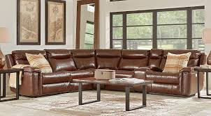 brown leather living room sets cindy crawford leather living room sets suites