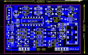 layout pcb inverter 600w pure sine wave power inverter design