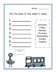 printable days of the week worksheets free worksheets library