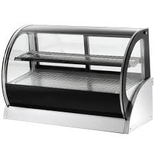 glass counter display cabinet vollrath 40857 60 curved glass heated countertop display cabinet