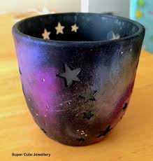 galaxy tea light candle holder crafty amino