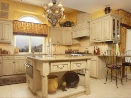u shape kitchen decoration using yellow kitchen wall paint