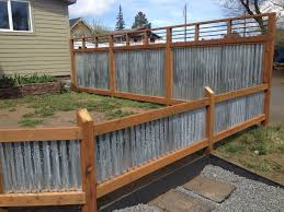Front Yard Metal Fences - lovely ideas corrugated steel fence interesting 1000 ideas about