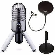samson samtr meteor mic with adjustable desk mic stand and pop