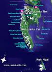 KOH LANTA Map, KOH LANTA, Krabi, Thailand