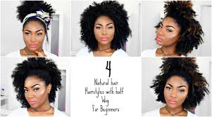 partial sew in hairstyles for synthetic hair 4 natural hair hairstyles afro half wig for beginners outre