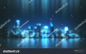 Celebrity Reflection Floor Plan Abstract Night Blur City Light Reflection Stock Illustration