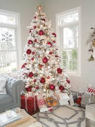 decorate a festive flocked tree