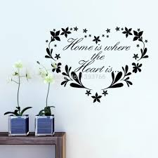 home is where heart is home decor creative quote wall decals home is where heart is home decor creative quote wall decals flower heart removable vinyl wall stickers wallpaper wall art letter wall stickers love wall