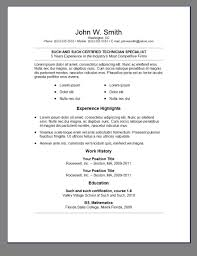 primer u0027s 6 free resume templates open resume templates