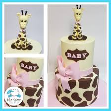 giraffe baby shower cakes pink giraffe baby shower cake blue sheep bake shop