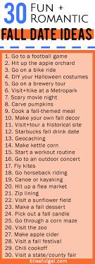fall date ideas blissful gal