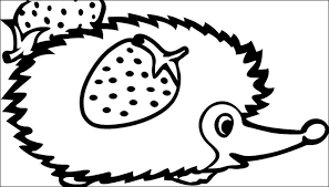 letter words coloring pages kids hedgehog picture