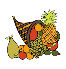 orange thanksgiving baskets clipart