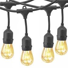 yztree outdoor string lights watherproof commercial quality bistro