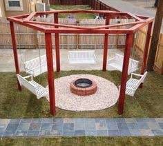 Fire Pits Denver by Gas Fire Pit With Gazebo And Swings Arizona Living Fire Pits