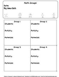 lesson plan template for guided math groups free kinderland