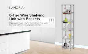 Bathroom Wire Shelving Amazon Com Langria 6 Tier Supreme Shelving Units Bathroom