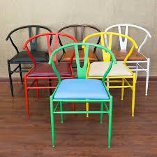 bureau coloré américain style coloré café chaise ménage loisirs bureau chaise d