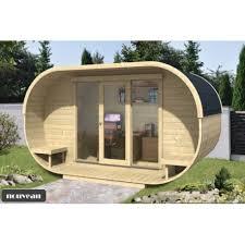chalet bureau de jardin oval kit bois thermowood vitrage 16m2