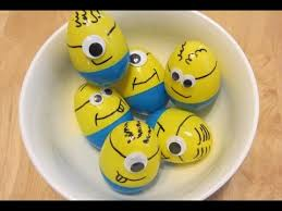 Easter Eggs Decorated Like Minions how to make minion easter eggs youtube