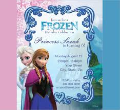 personalized frozen birthday invitations personalized frozen