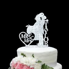 custom wedding cake toppers personalize last name silver gold wedding cake topper mr mrs wedding
