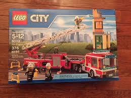 lego ferrari truck lego fire engine city set 60112 truck 376 pcs ebay