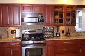 Kitchen Backsplash With Granite Countertops Furniture Appealing Kitchen Design With Cabinets Plus Santa