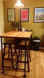 butcher block high top dining table waldron bros custom art