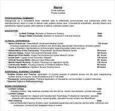 Nurse Resume Format Sample by Resume Template Nursing