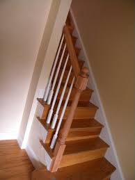 Banister Replacement Wood Stairs And Rails And Iron Balusters Wood Handrail