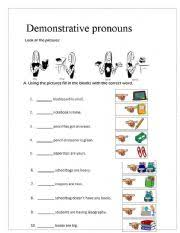 english teaching worksheets demonstrative pronouns