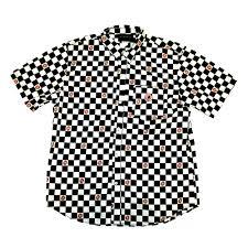odd future official store donut o checkered shirt