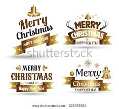 merry badges free vector stock graphics