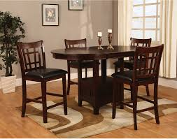 dalton 5 piece chocolate counter height dining package the brick