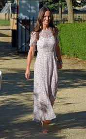 classically beautiful pippa middleton wears a lace dress by giles
