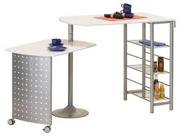 table cuisine table dejeuner filamento alu blanc