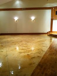 light stained concrete floors acid stained concrete creates special floor covering gift design