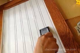 Installing Beadboard Wallpaper - beadboard paneling u0026 wallpaper door install discover create