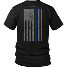 Subdued American Flag With Thin Blue Line Law Enforcement Thin Blue Line Usa Flag Shirt U2013 Thin Line Style
