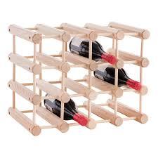 j k adams hardwood 12 bottle wine rack the container store