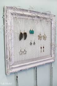 Shabby Chic Jewelry Display by Shabby Chic Plastic Canvas Diy Jewelry Organizer Diy Jewelry