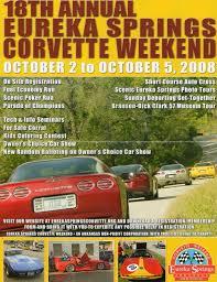 springs corvette weekend cover of eureka springs corvette weekend george riggs