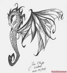 dragon and seahorse tattoo tattoo viewer com