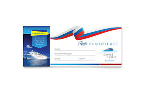 travel gift certificates cruise travel gift certificate template design