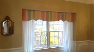 window treatment idea for bay window or bump out window youtube
